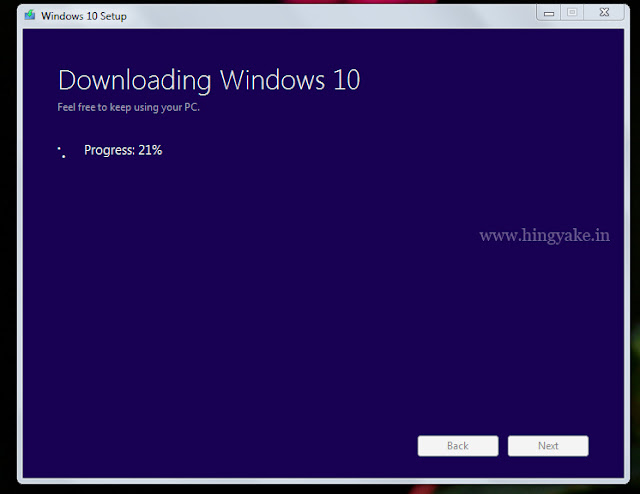 upgrading windows10