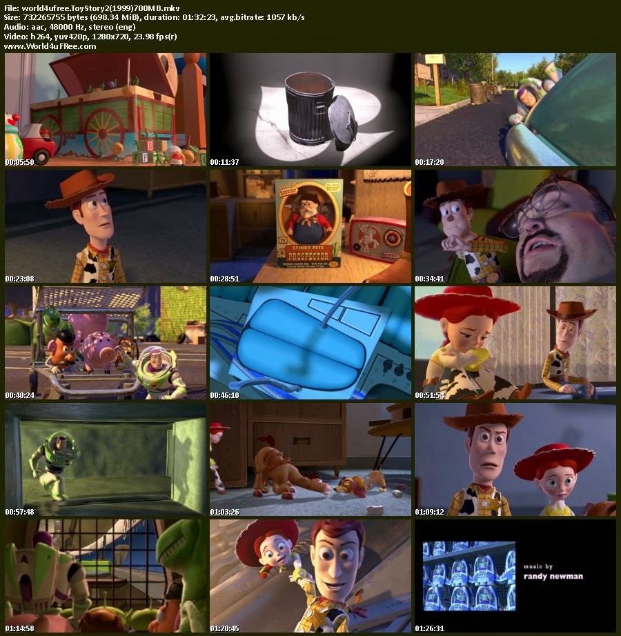 Toy story 2 1999 bluray 720p 700mb