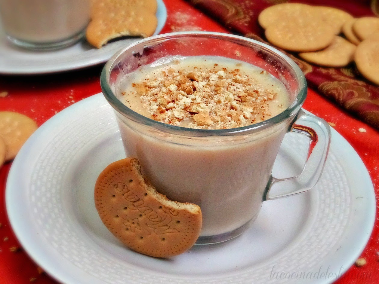 Cookie Atole made with Marias Cookies - lacocinadeleslie.com