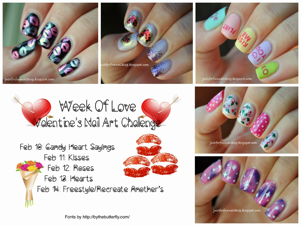 Valentines Day 2014 Nail Art : Challenge Recap
