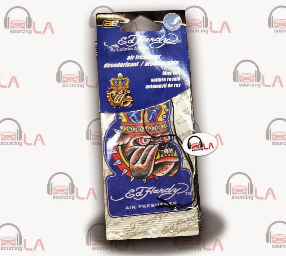 http://www.ebay.com/itm/Auto-Expressions-Ed-Hardy-King-BullDog-Car-Air-Freshener-12-PK-/131350965413