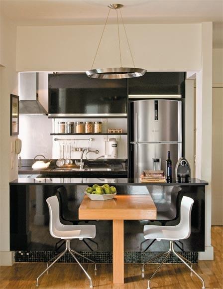 Arqteturas Inspirações  Cozinha Americana # Cozinha Pequena E Quadrada
