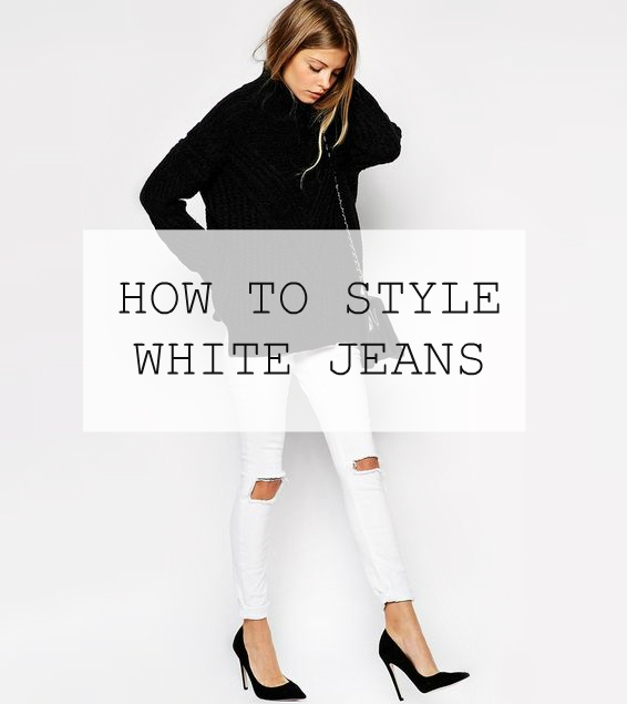 how to style white jeans