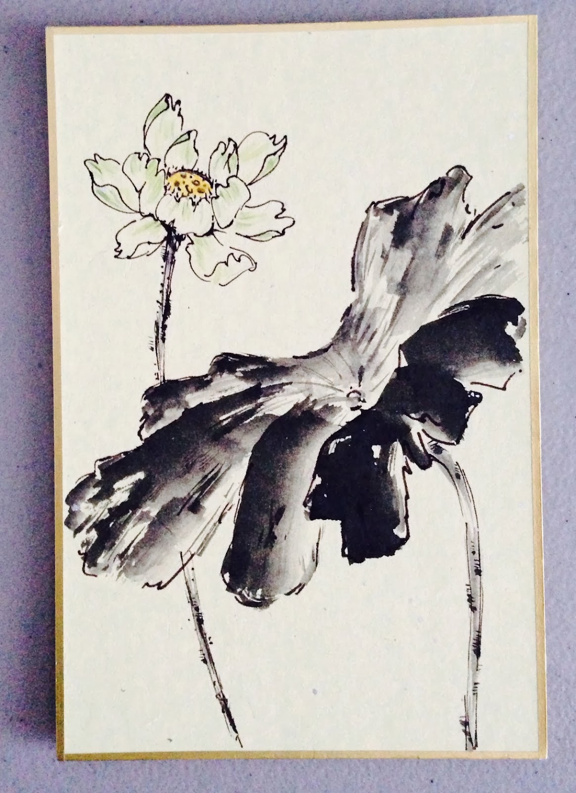 art of asian ink painting lotus sumi painting