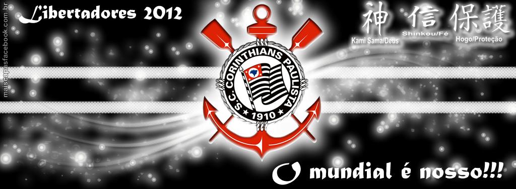Capa para Facebook com Frase Corinthians Bicampeão Mundial