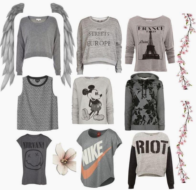 Grey T-shirt, Grey T shirt, Grey,