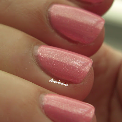 Models Own Pastel Pink under Sinful Colors Glass Pink
