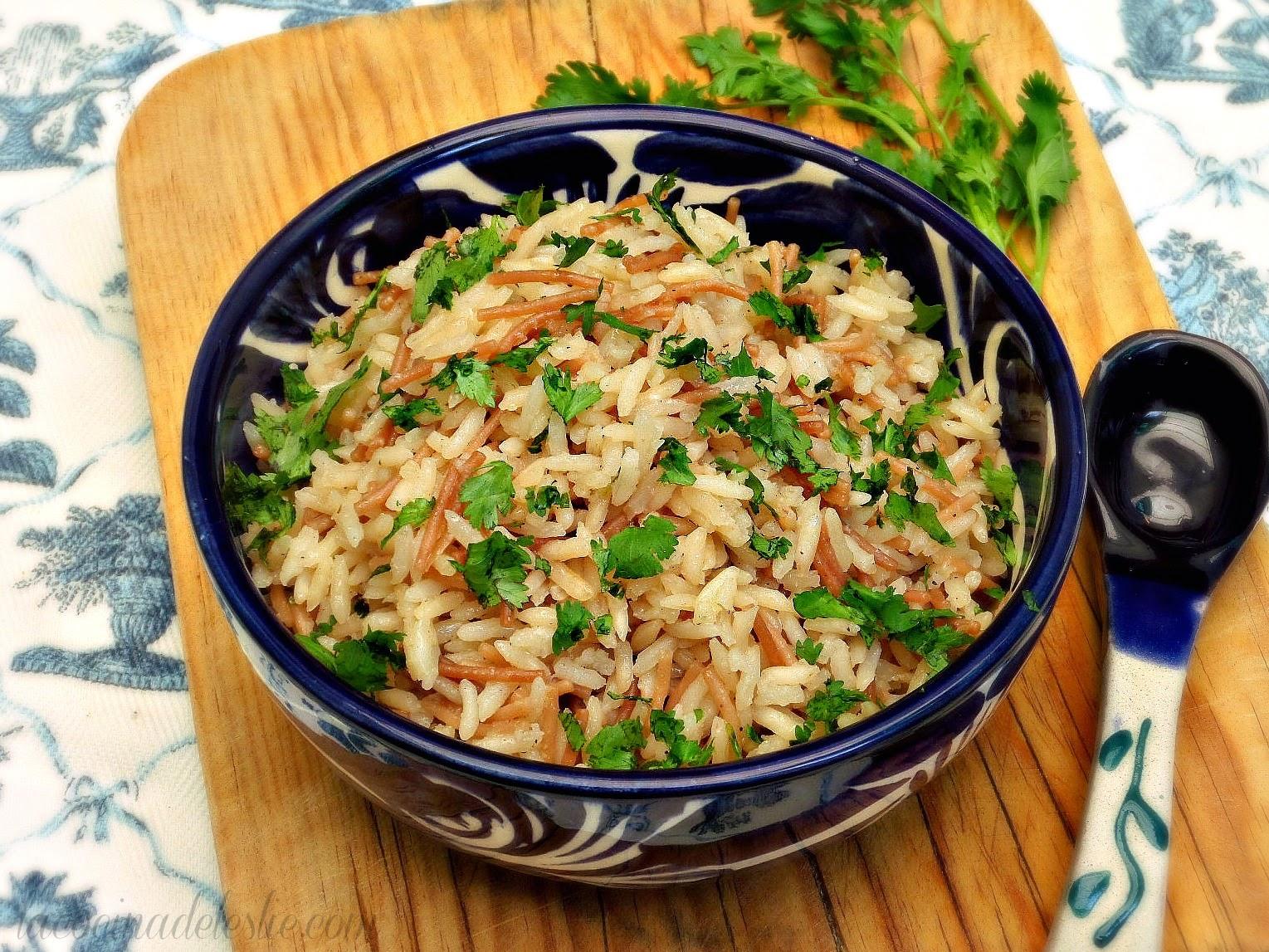 Recete de arroz pilaf - lacocinadeleslie.com