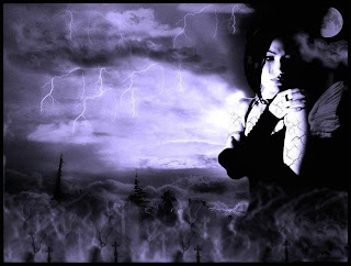 Gothic Girl In A Storm Dark Gothic Wallpaper