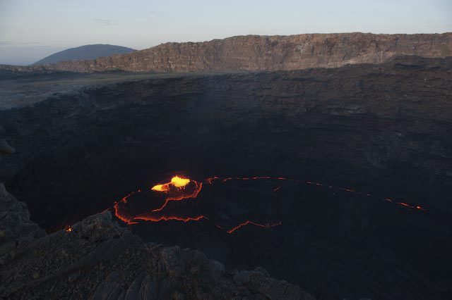 Photograph of volcano in Ertale, Afar, Ethiopia by Ethiopian photographer Michael Tsegaye