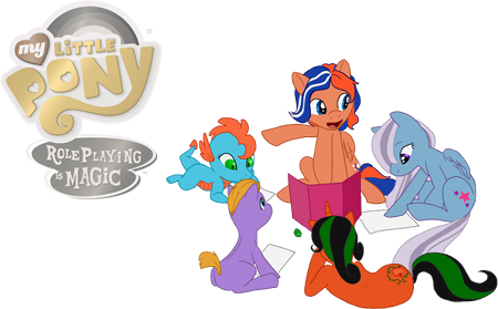 The release image for My Little Pony: Roleplaying is Magic