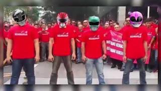 Video parodi Power Rangers Kumpulan Anti Bersih 4.0