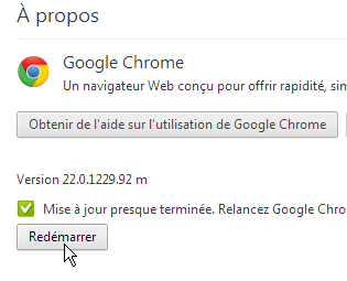 capture d'écran de Google Chrome