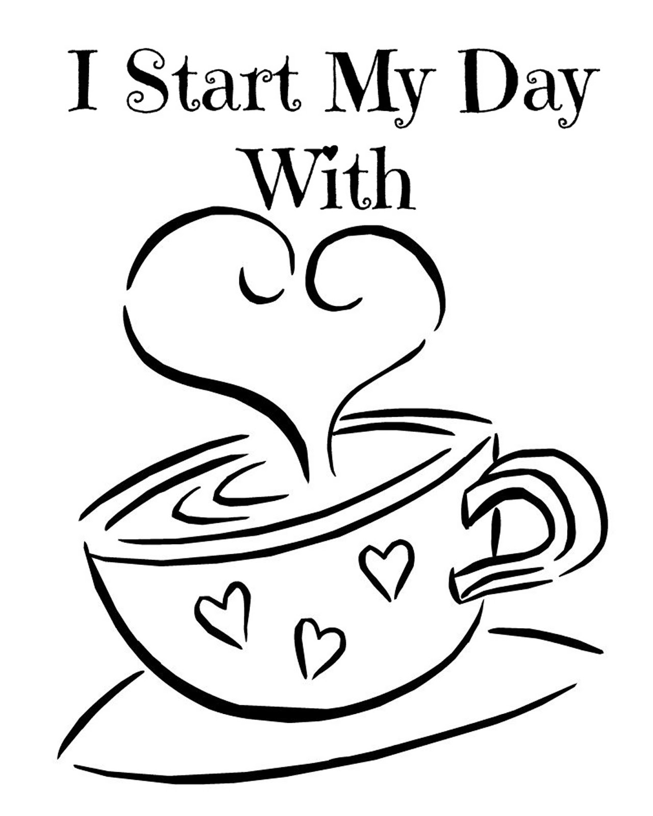 picture relating to Printable Kitchen Art identified as CJO Picture: Printable Kitchen area Artwork 8x10: I Commence My Working day With