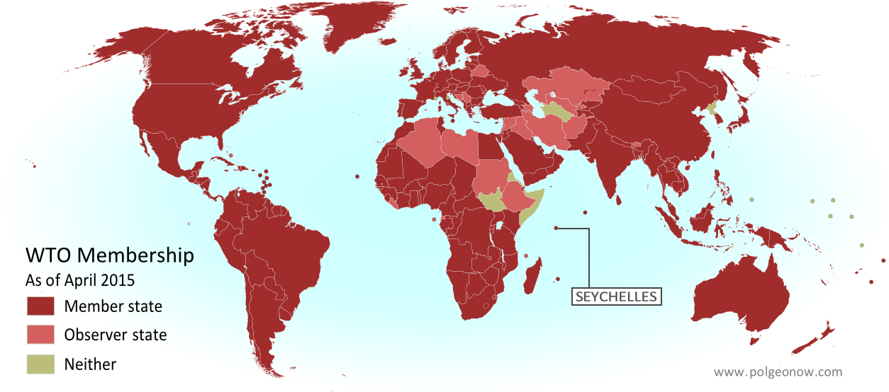 Map Seychelles Join WTO Political Geography Now - Map of seychelles world