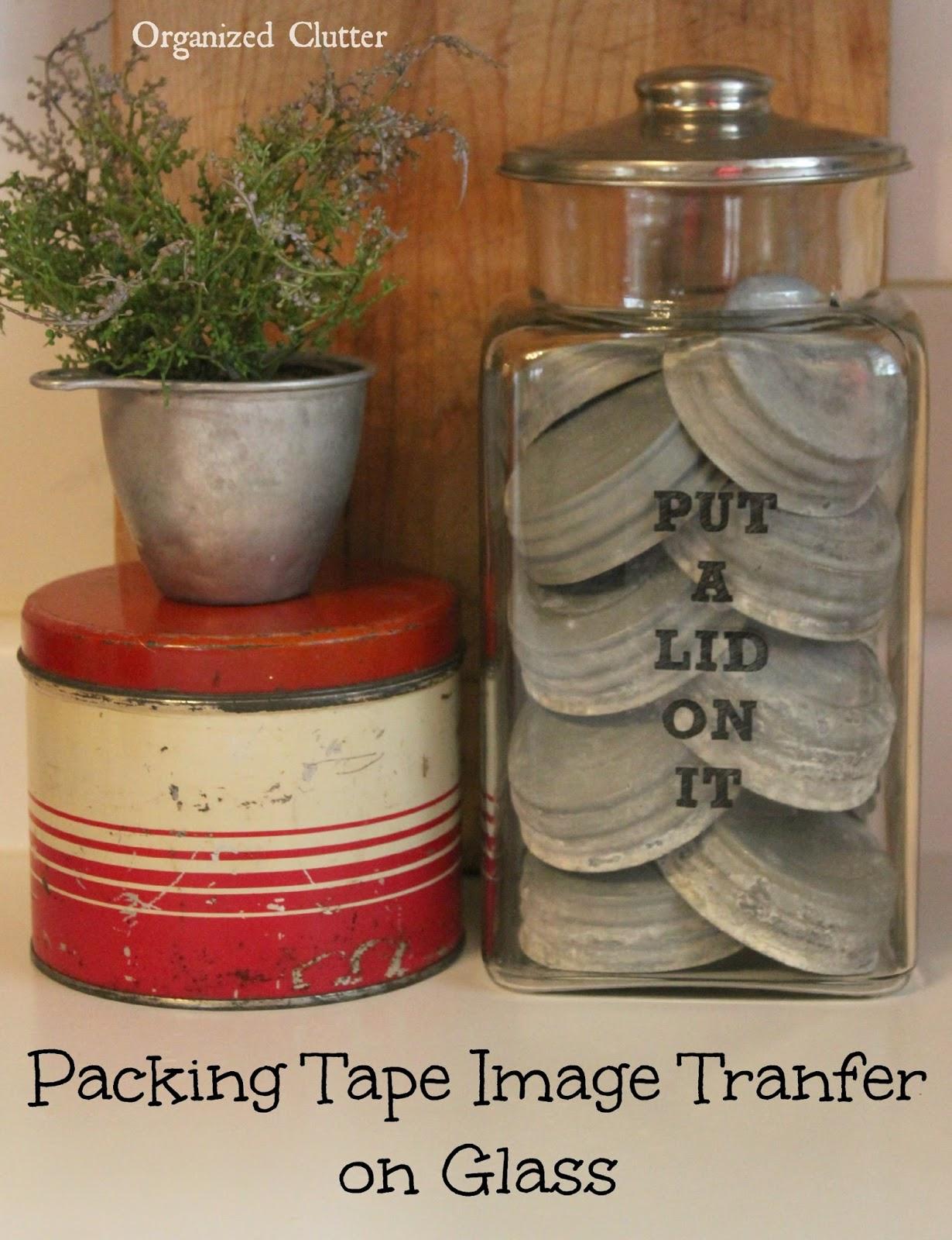 Image Transfer on Glass/Zinc Lid Display www.organizedclutter.net