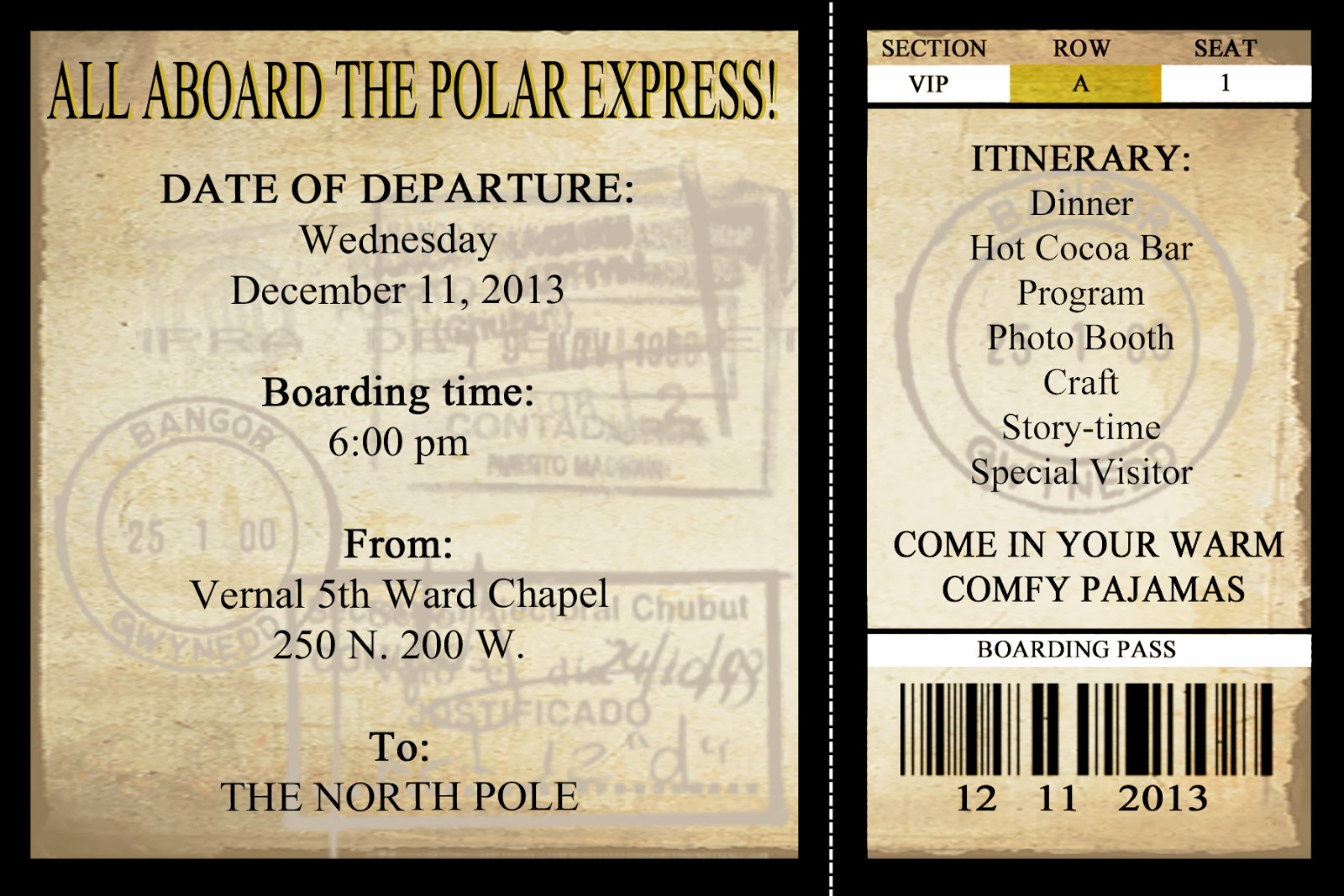 photo relating to Printable Polar Express Tickets Boarding Passes referred to as Mommy will perform: Xmas Get together Polar Specific Invites!