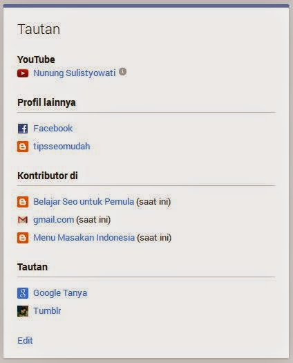 Edit Tautan di Google Plus