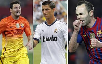 Finalistas del Balón de Oro FIFA 2012