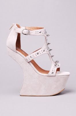 Jeffrey Campbell Contain in nude suede / silver