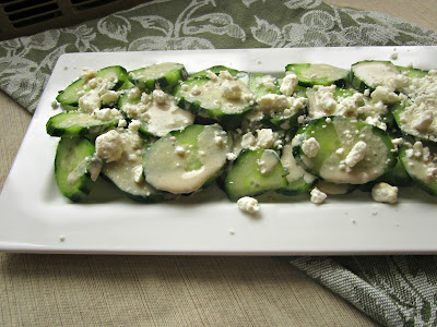 Cucumbers with Tahini and Crumbled Feta