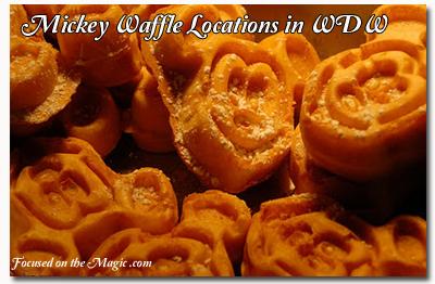 Mickey Waffle Locations in Walt Disney World