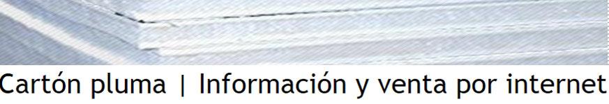 Cartón pluma | Información y venta por internet