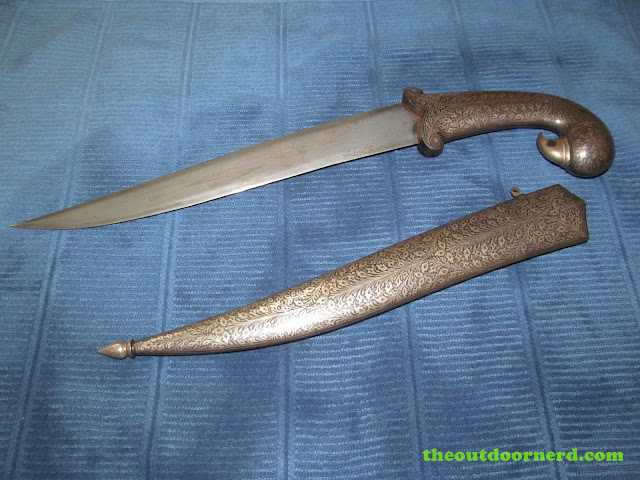 Ceremonial knife from India - with scabbard