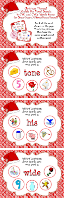 This game is the perfect way to get students reading CVC and CVCe words and identifying words with similar vowel sounds! Have students segment the word shown on the page and identify the short or long vowel sound in the word. Then, have the students click the three pictures on the page that have the same vowel sound!   This game cheers for the students if they click the correct pictures on the page, and gives them guidance if they click an incorrect answer!