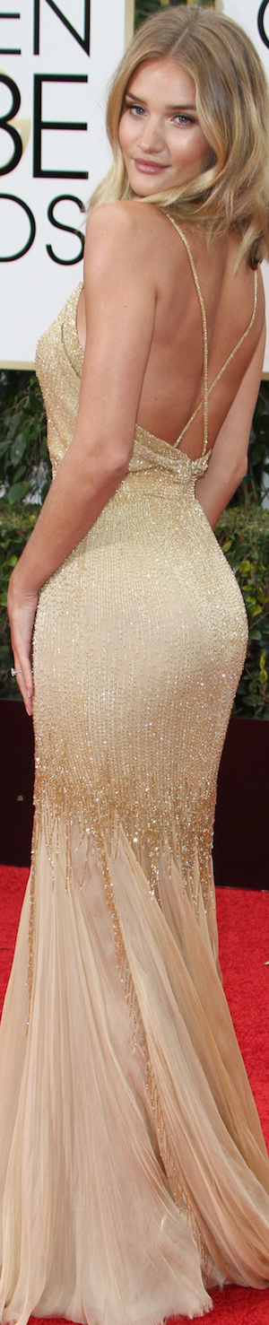 Rosie Huntington Whiteley 2016 Golden Globes