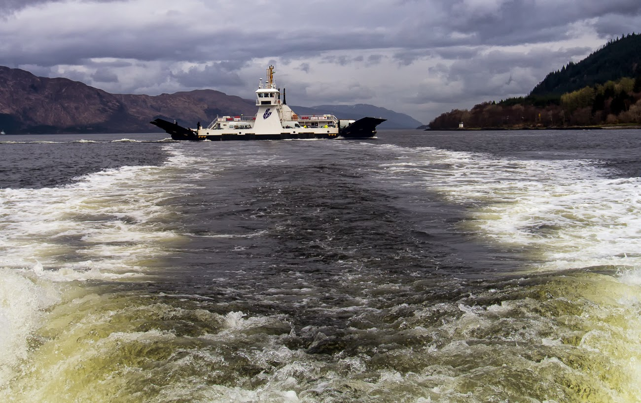 photo of he Corran Ferry on loch Linnhe in the Scottish Highlands
