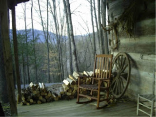 1800s Restored Log Cabin on the Cherokee Indian Reservation