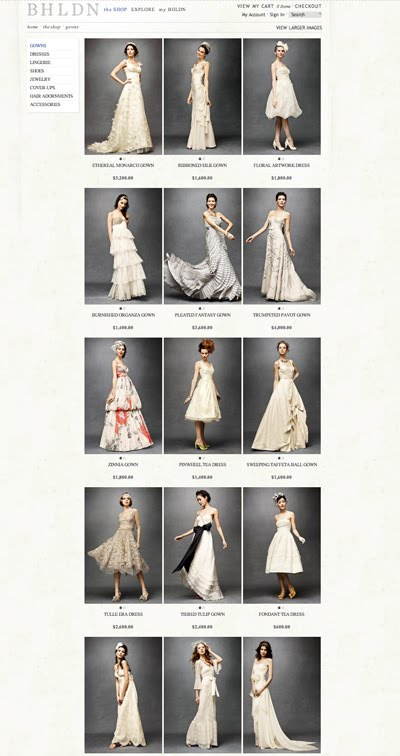 The Wedding Gowns are quintessential Anthropologie Some are ethereal