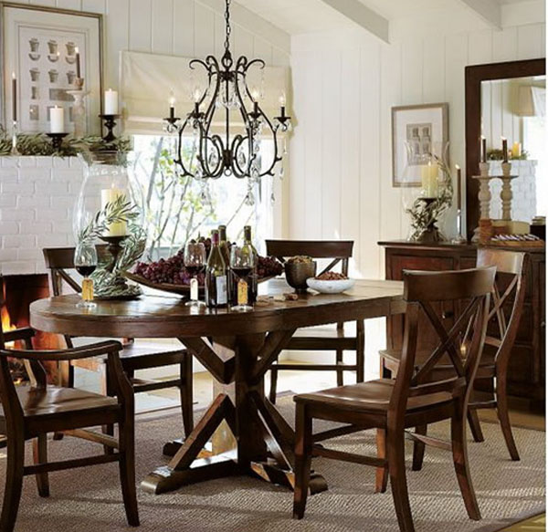 Country Dining Room Lighting 600 x 583
