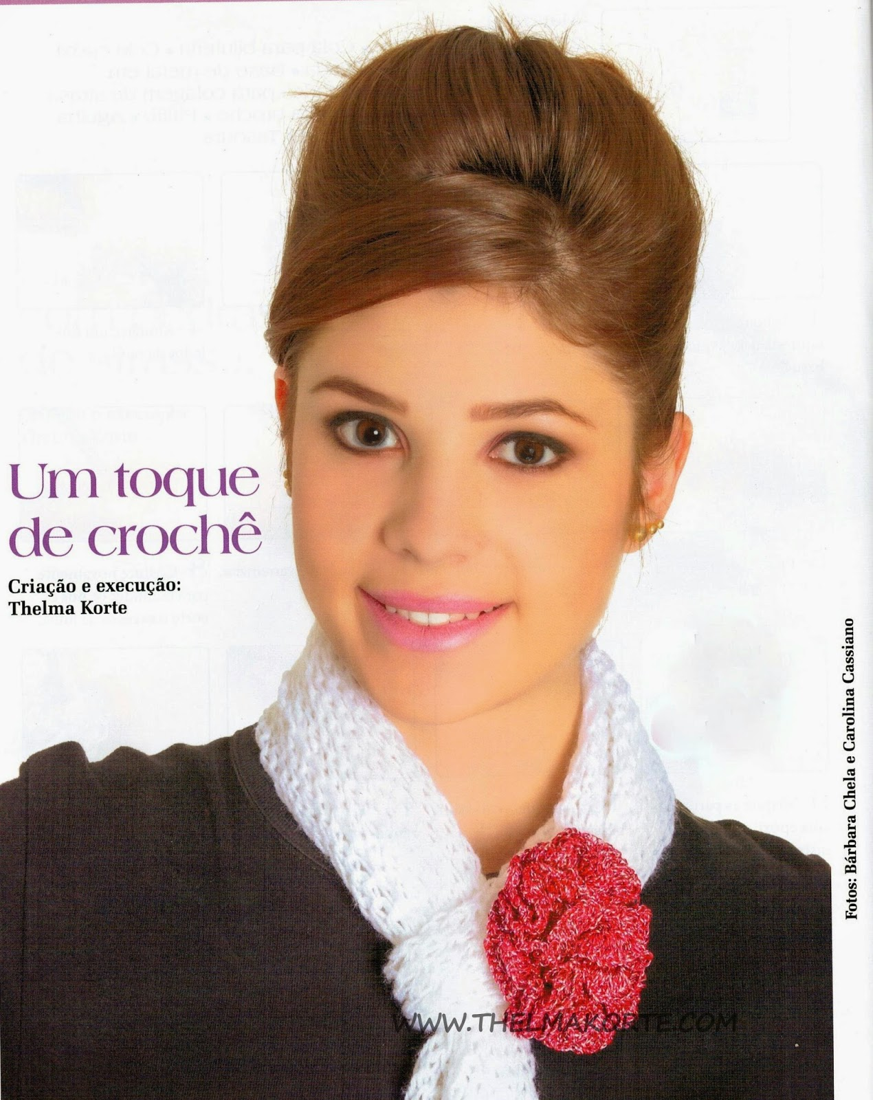 BROCHE DE FLOR DE CROCHÊ POR THELMA KORTE