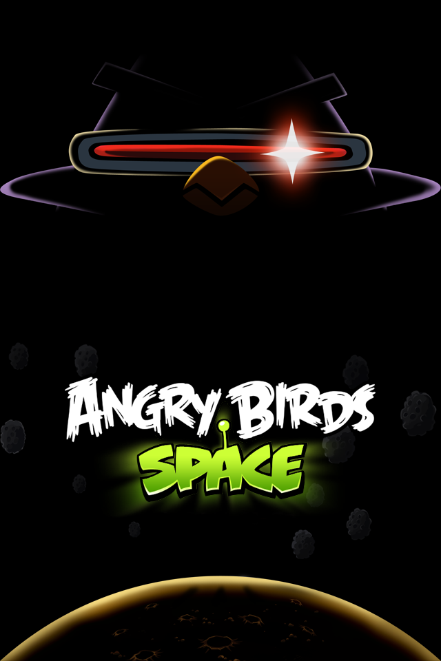 Angry Birds Space HD iPhone Wallpaper