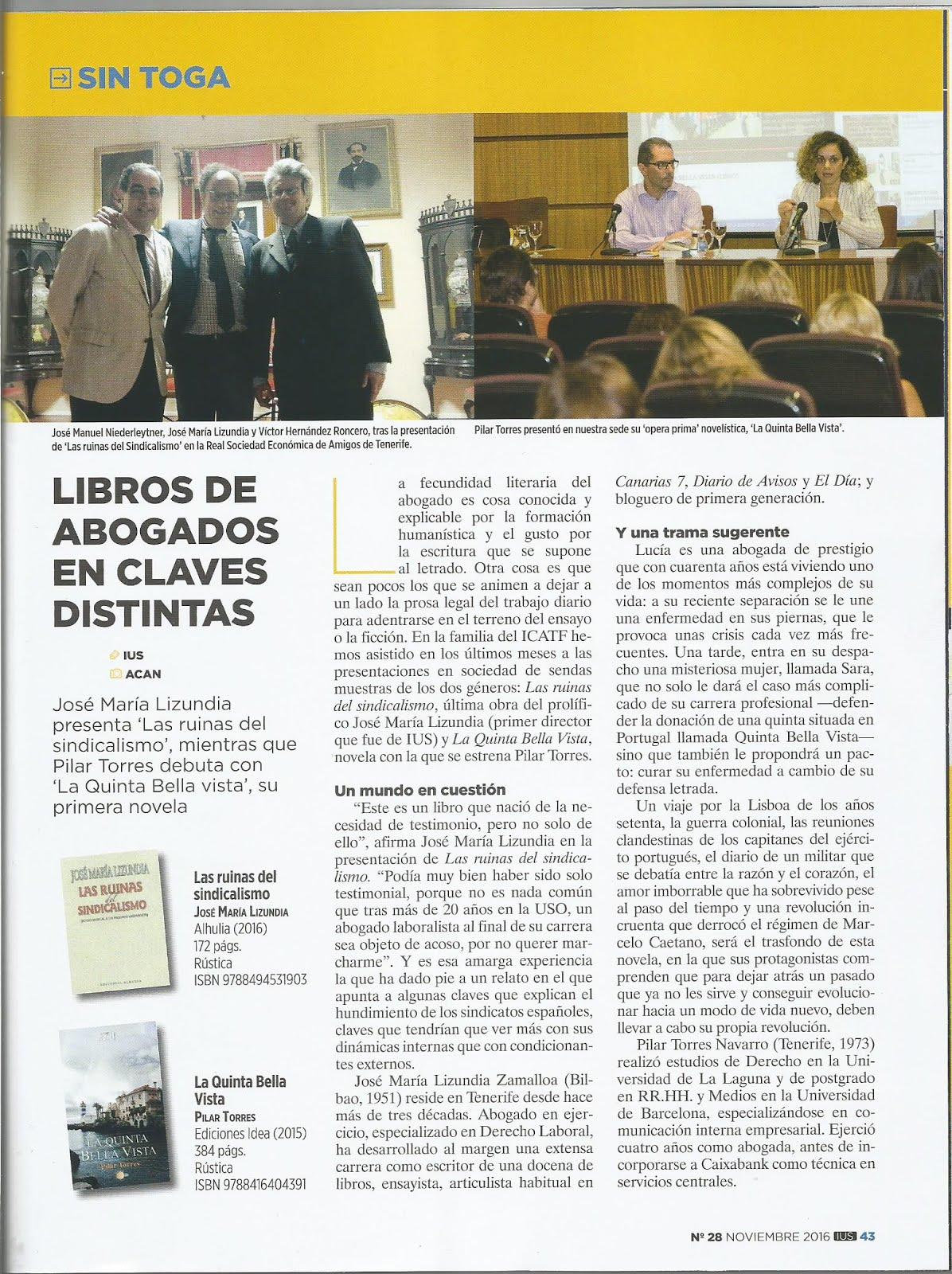 Revista IUS COLEGIO ABOGADOS Tenerife
