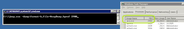 memory leak java jmap