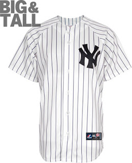 Big and Tall Yankees Home MLB Jersey