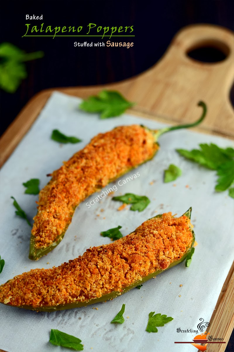 Recipe | '0' Oil Skinny (Baked) Jalapeno Poppers with Spicy Sausage ...
