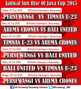 Jadwal + Siaran TV Sunrise of Java Cup 2015