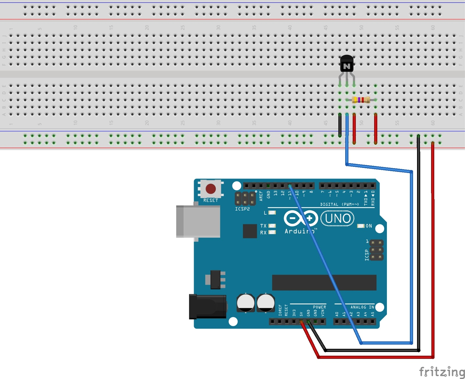 двухпороговый термодатчик схема