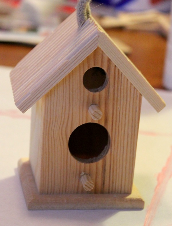 Simple crackle birdhouse for Simple birdhouse