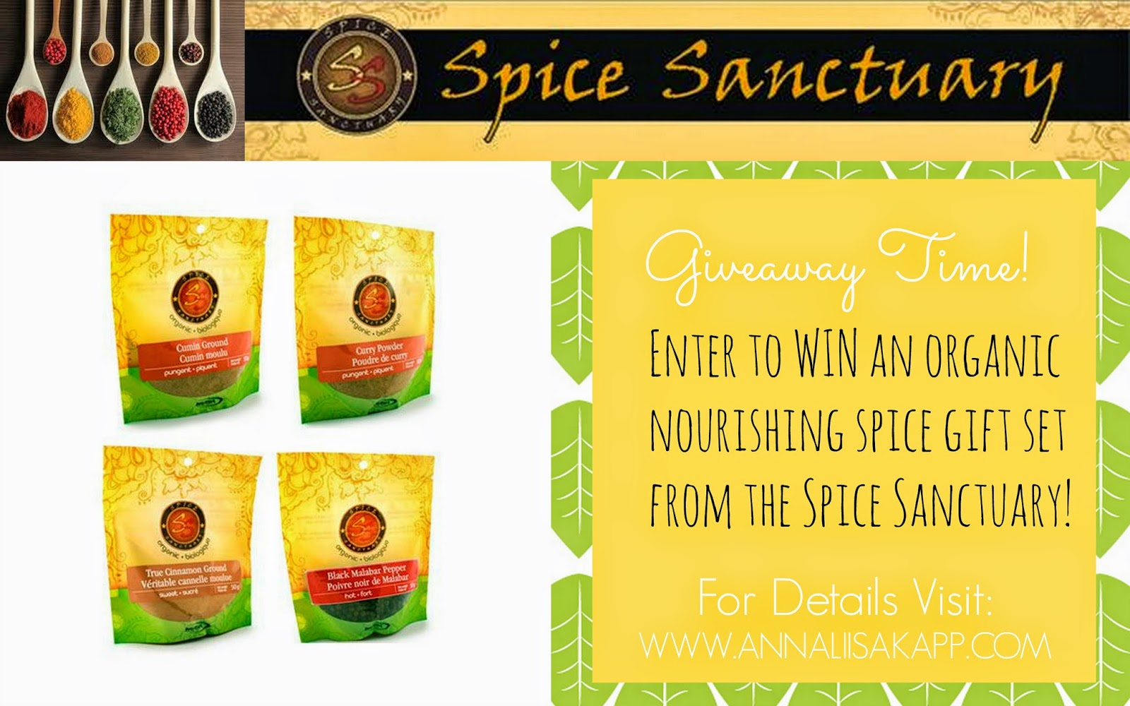 spice sanctuary organic spices giveaway