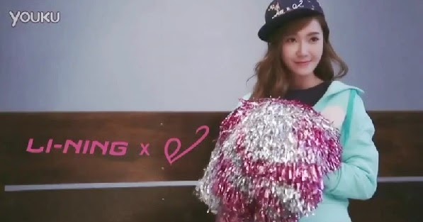 Jessica is an adorable cheerleader for Li-Ning
