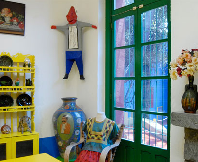 La silla turquesa la casa azul de frida kahlo y diego rivera for La casa azul decoracion