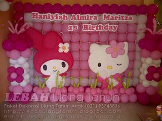 Hello Kitty Balloon Wall