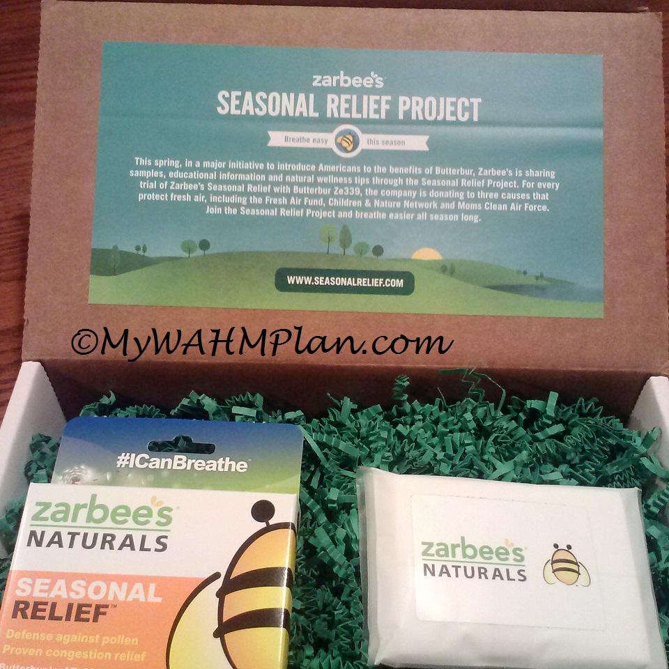 seasonal relief tablets, tissues, box