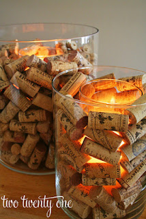 things to put in vases, wine corks