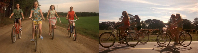 Now and Then film bike scene